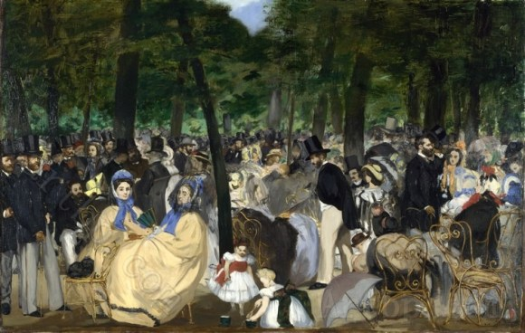 Full title: Music in the Tuileries Gardens Artist: Edouard Manet Date made: 1862 Source: http://www.nationalgalleryimages.co.uk/ Contact: picture.library@nationalgallery.co.uk Copyright (C) The National Gallery, London