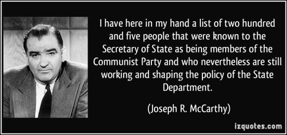 McCarthyList