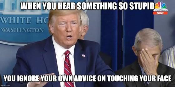 TrumpFauciFacepalm