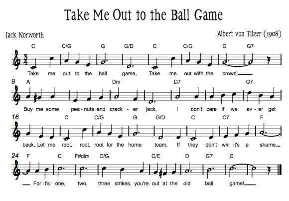 Sheet Music for Take Me Out To The Ballgame