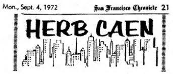 Herb Caen Column Heading