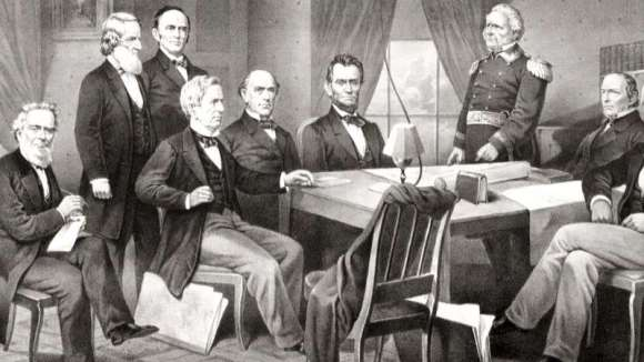 A. Lincoln and Cabinet