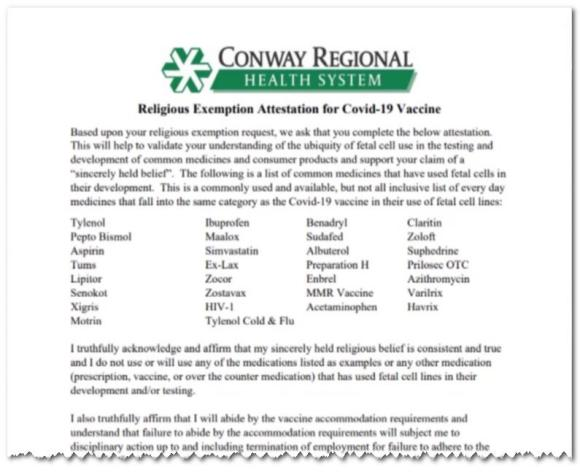 Conway Regional Hospital Testament