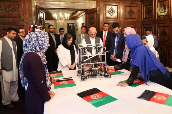 Team Afghanistan meeting with President of Afghanistan Ashraf Ghani and his cabinet.