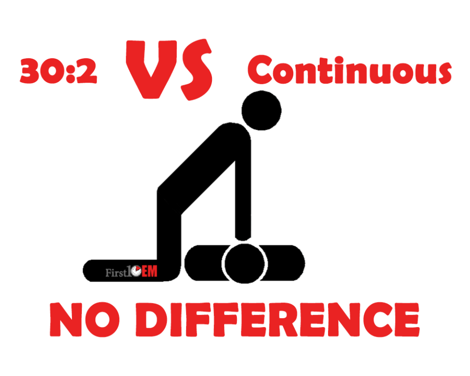 continuous chest compressions versus interrupted at 30:2