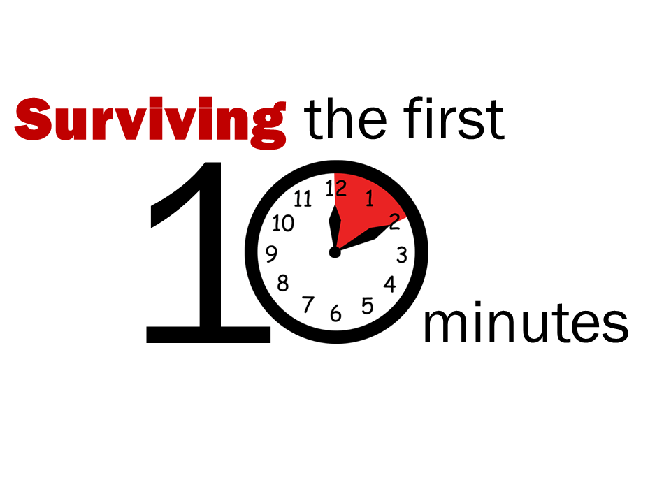 Surviving the first 10 minutes (lecture notes for North York Emergency Medicine Update)