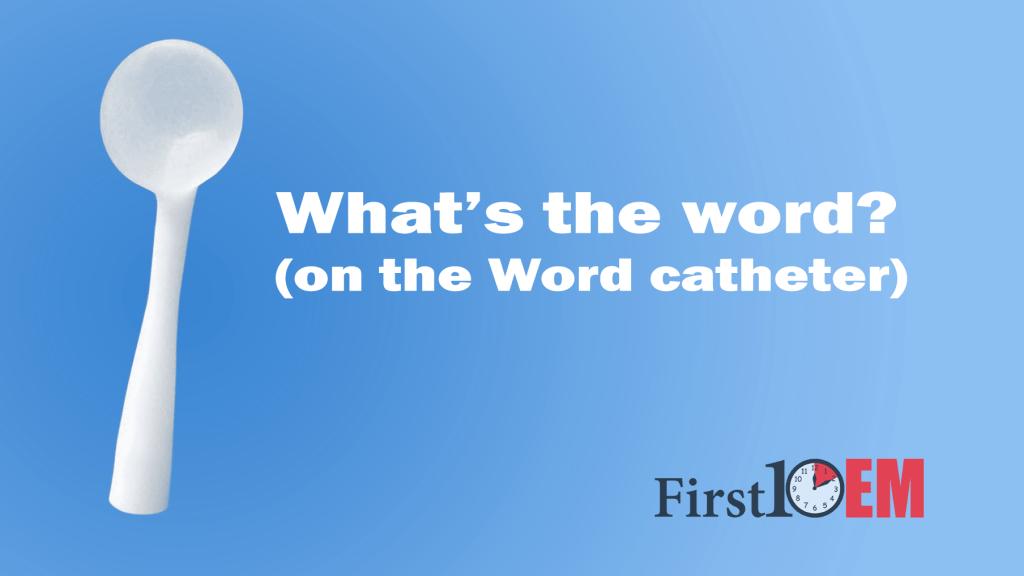 What's the word on Word catheters?