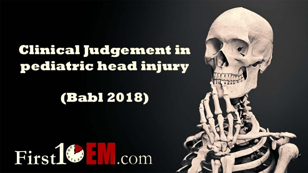 Babl 2018 clinical judgement