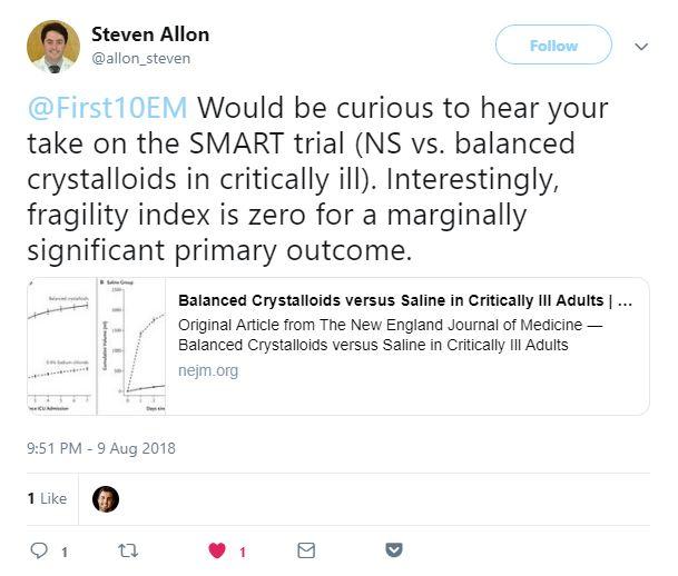 SMART trial tweet