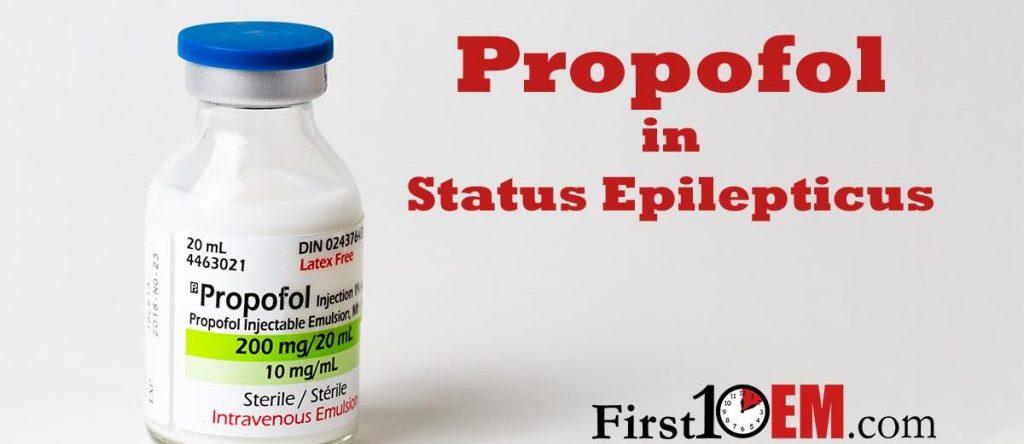 propofol in an aggressive seizure algorithm