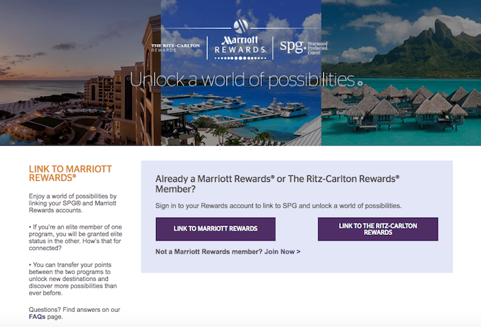 Link Starwood and Marriott Accounts
