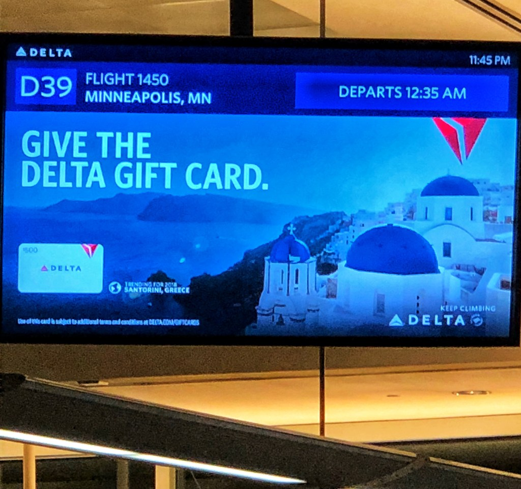 Delta Airlines Redeye Vegas Minneapolis