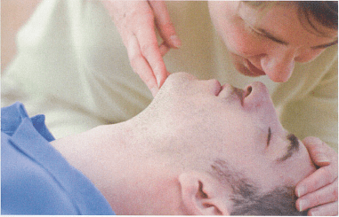 CPR MOUTH-TO-NOSE RESCUE BREATHING