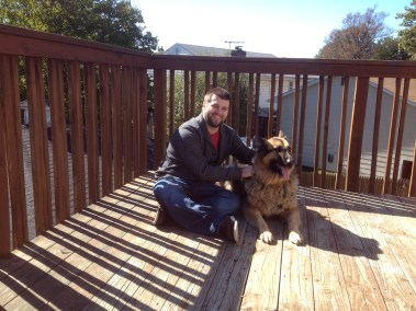 Rail and deck lines - and man and best friend