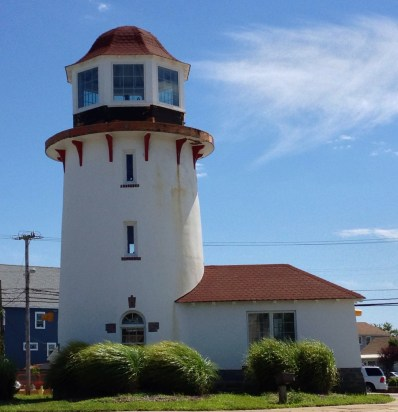 The Lighthouse at the circle in the middle of town.