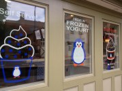 And in the frozen yogurt shop