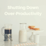 Are your productivity levels so high you aren't appreciating what God gives?