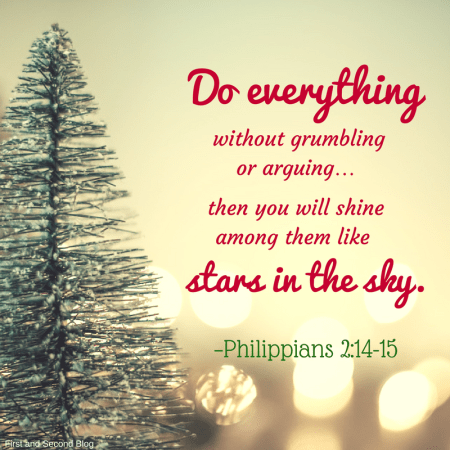 Bible verse reflecting the light of silent night and believers contentment