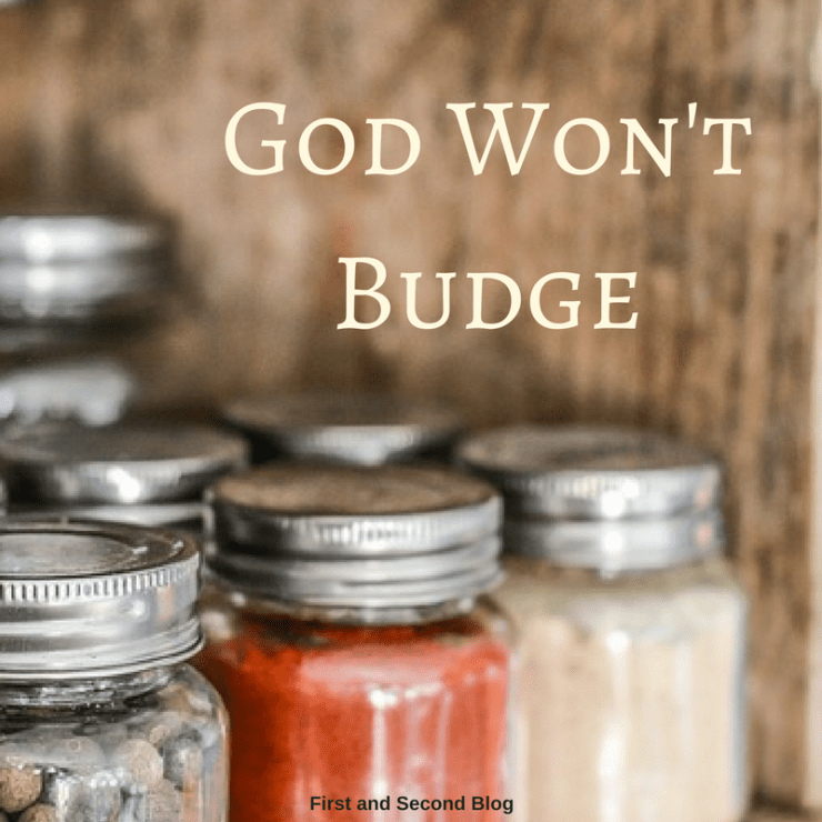 Do you ever wish the lid on jar would come unstuck? Being inflexible isn't usually a good thing. But God won't budge- and that's good news for us!