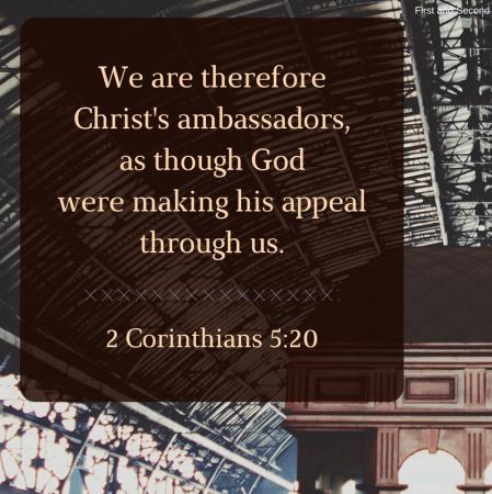 Bible verse about being an ambassador for Christ