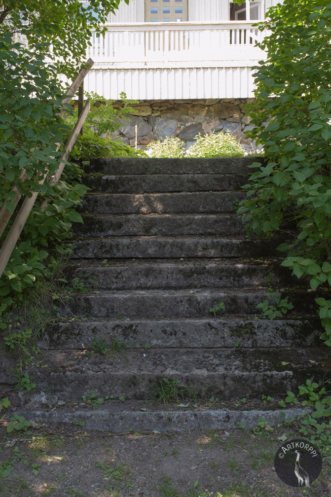 Stairs to the garden.