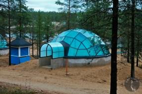 Hotel rooms = glass Igloos in Saariselkä (Kakslauttanen) for looking northern lights.