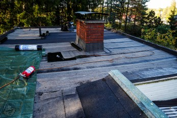 Our roof is repaired by skillful hands