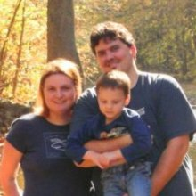 Picture of Nick and Susan, the Youth Pastor team, while near a covered bridge in Norther Virginia