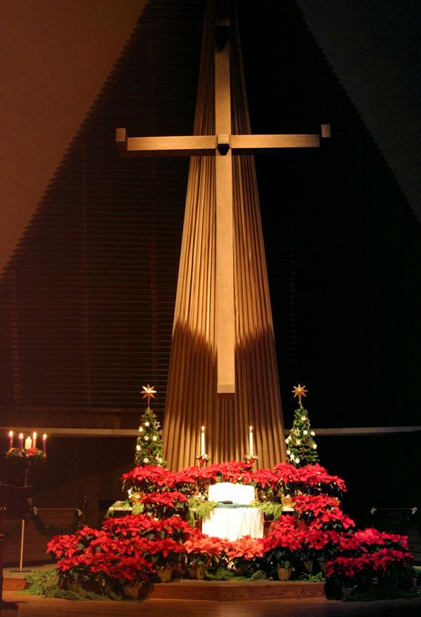 Altar at Christmas