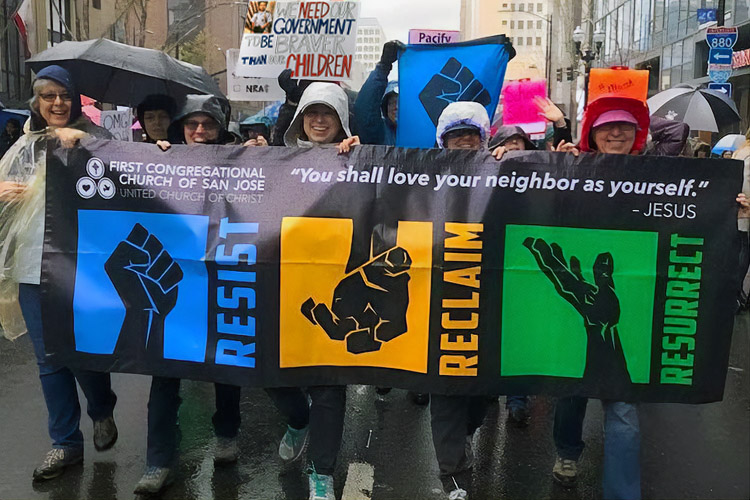 photo from a March for Our Lives, 2018