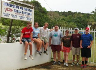 Our youth on a mission trip to Puerto Rico.
