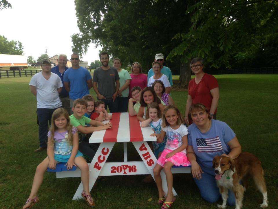 VBS Picnic Tables at the Dog park