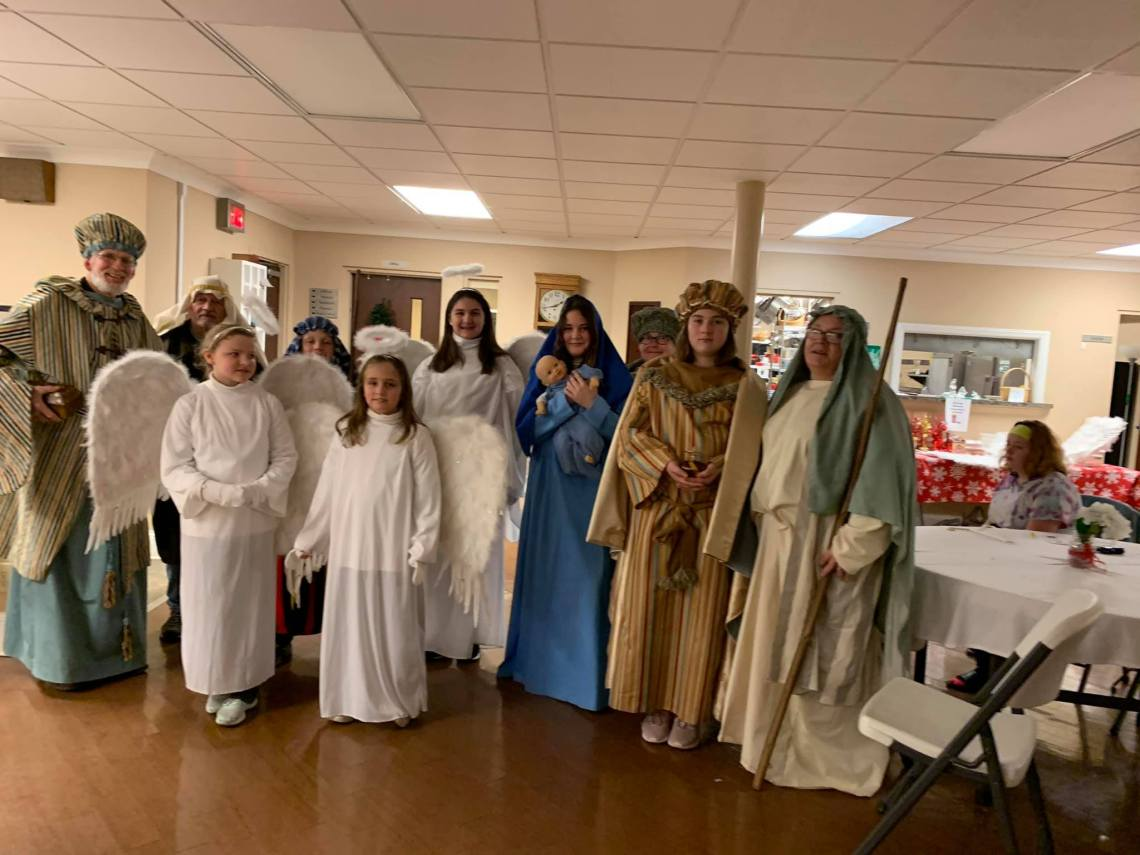 Getting ready to do the Living Nativity 2019