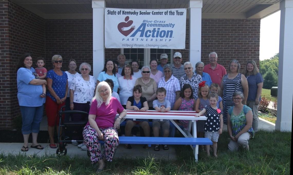 VBS picnic table at the senior center