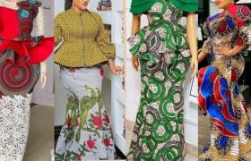 Peplum Akara Skirt and Blouse Styles