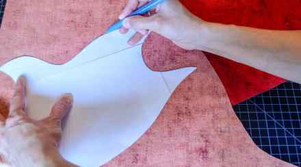 Tracing flame pattern onto fabric