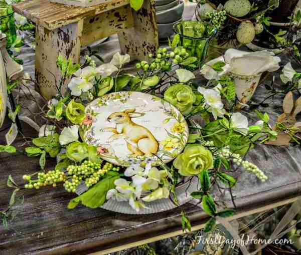 Easter tabletop plate