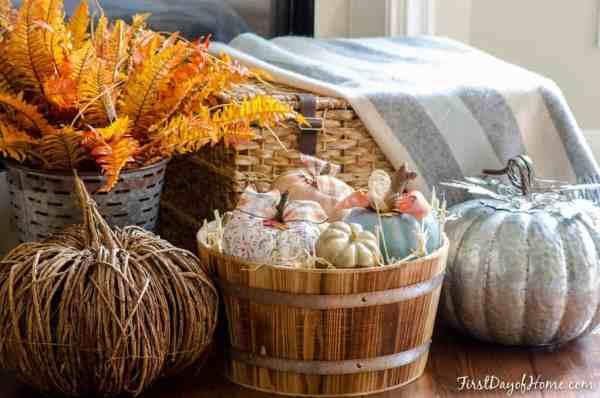 Fall pumpkin crafts using dollar store foam pumpkins