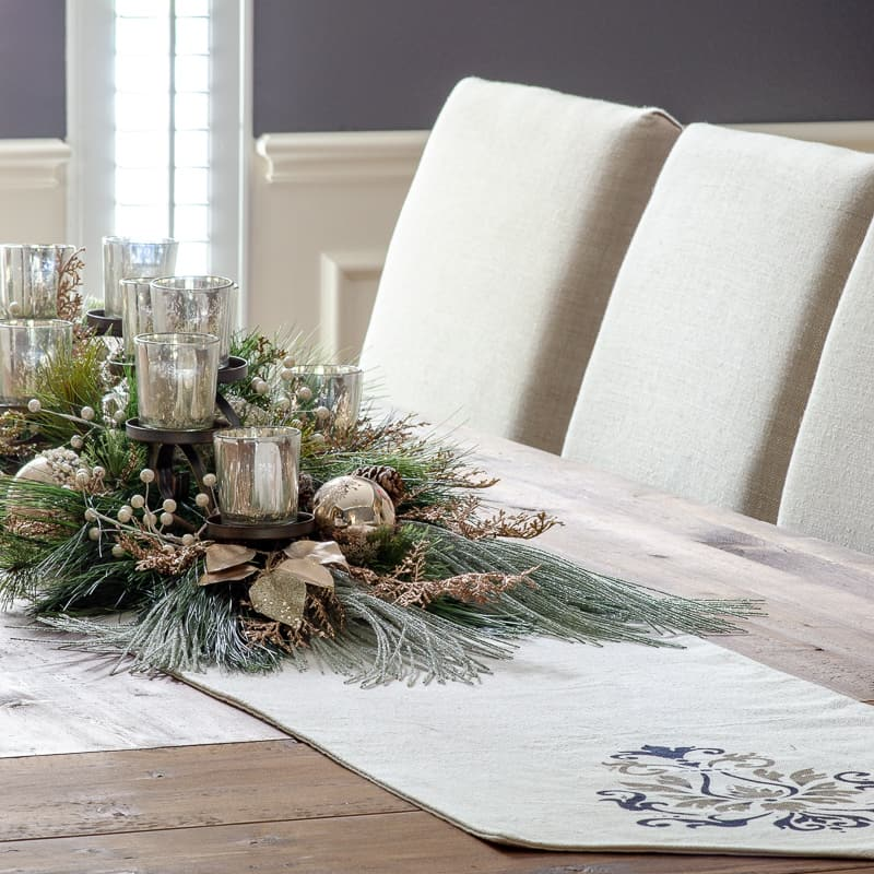 Easy DIY Holiday Centerpiece with Mercury Glass