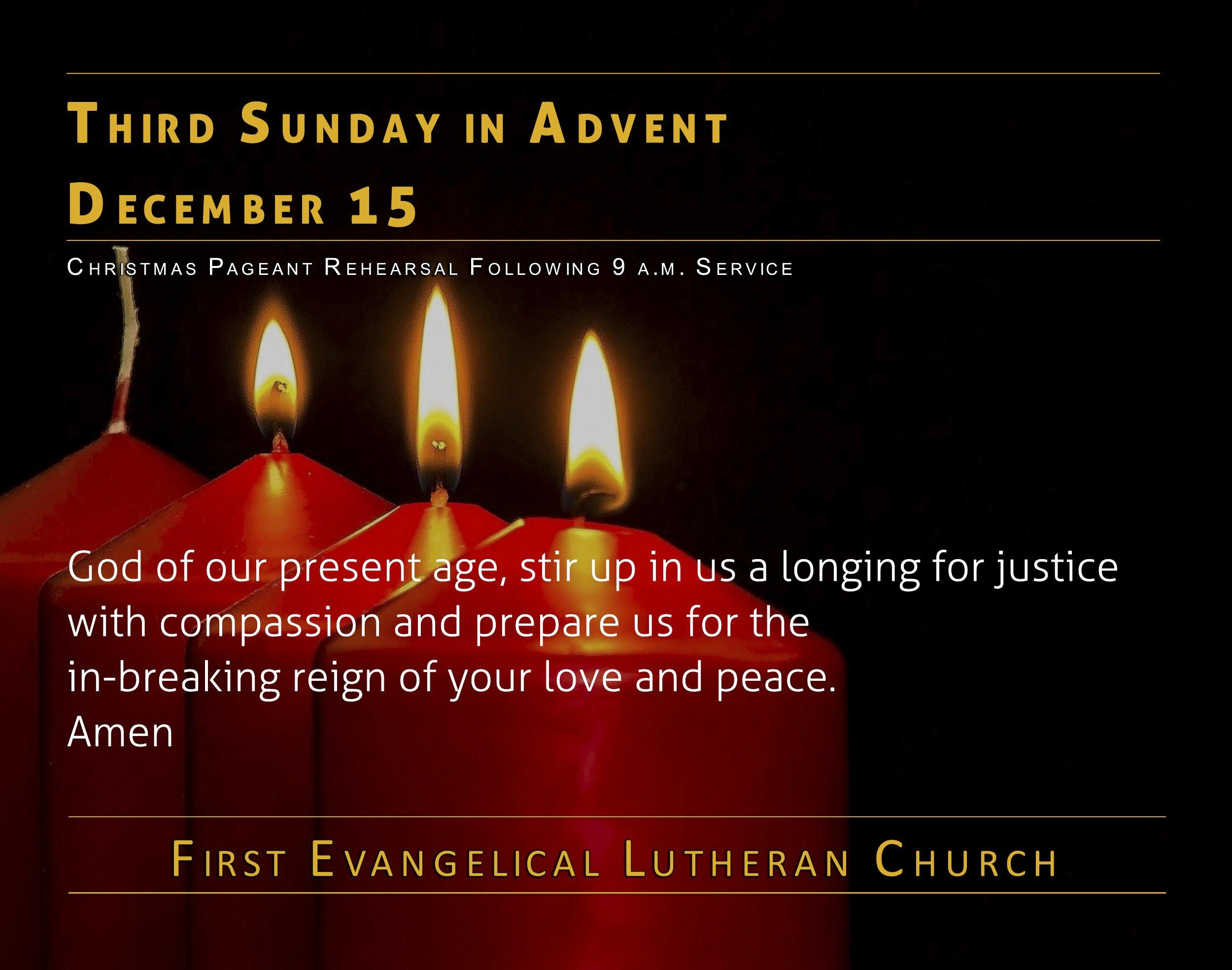 12/15/2019 - Third Sunday of Advent
