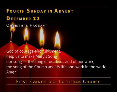 12/22/2019 - Fourth Sunday of Advent