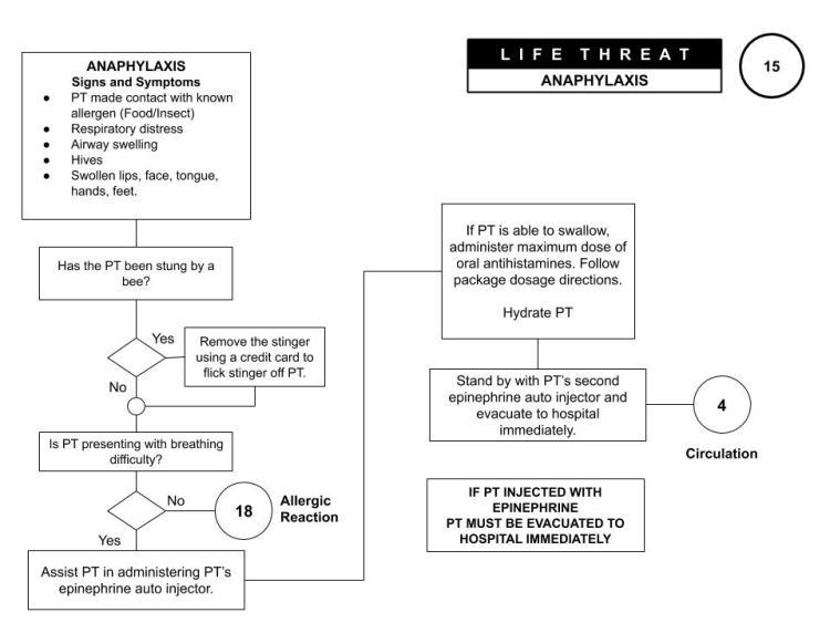 Wilderness First Aid Online Algorithm