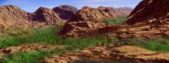 270 Million YO Mountain Scene