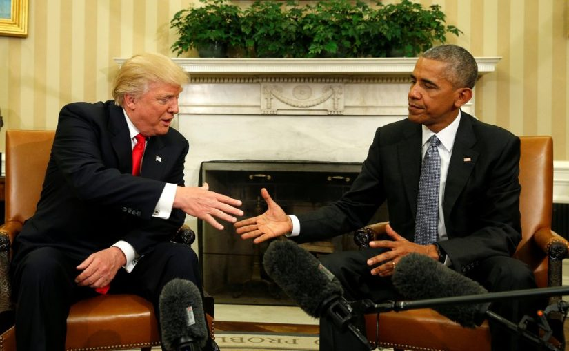 Breaking tradition, Trump doesn't permit journalists to cover his first meeting with Obama