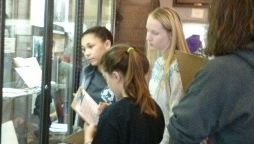 Young visitors to World Methodist Museum participate in a scavenger hunt.