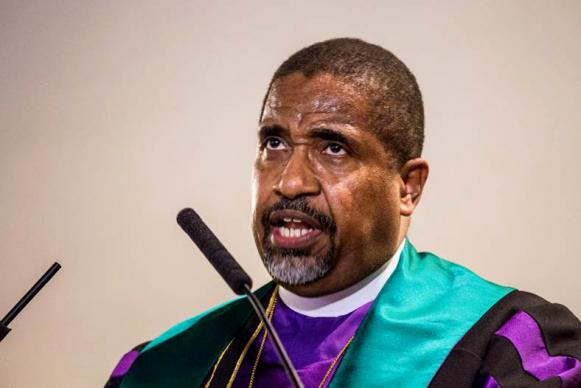 """CME Bishop Lawrence Reddick said the objectives of the """"Liberty and Justice for All"""" campaign include criminal justice reform, education reform, economic justice, gun safety reform, and voting rights."""