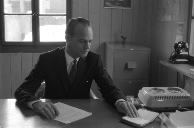 Ralph Young at his WCC office in 1962.