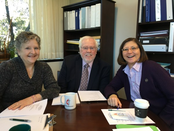 (l-r) Jan Ervin, B.T. Williamson (TAC), and Sarah Wilke (The Upper Room, WMC). Photo courtesy of the Texas Annual Conference of the UMC.