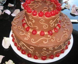 Chocolate Cherry Grooms Cake