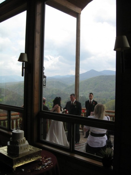 Wedding Ceremony from the Cabin Deck